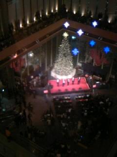 ゴスペラーズ@丸ビルのクリスマスツリー